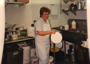 Photo of Bita Rahban's mother, Jaleh Rahban, who has been the head cake decorator of Vienna Pastry in Santa Monica since the1980s. Photo courtesy of Vienna Pastry.
