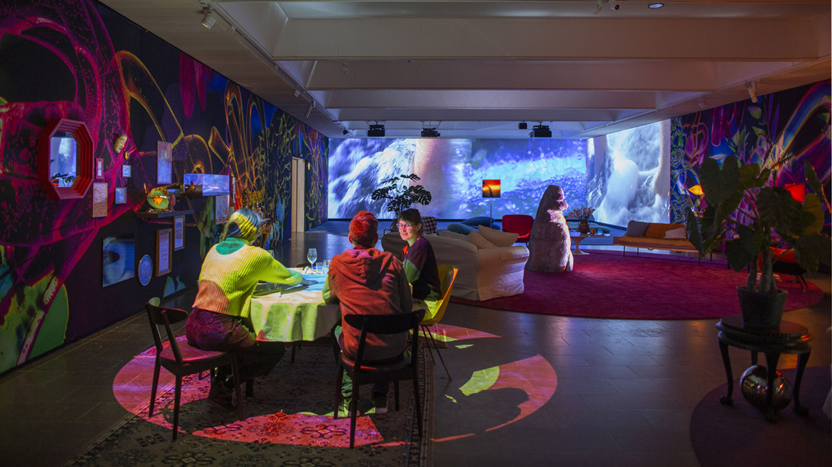 """Installation view, Louisiana Museum, Pipilotti Rist, """"Åbn min lysning (Open My Glade),"""" Humlebæk, Denmark, 2019. Photo by Poul Buchard. © Pipilotti Rist. Courtesy the artist, Hauser & Wirth, and Luhring Augustine."""